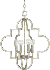 Capital Lighting Ellis 4-Light Pendant Antique Silver 4541AS