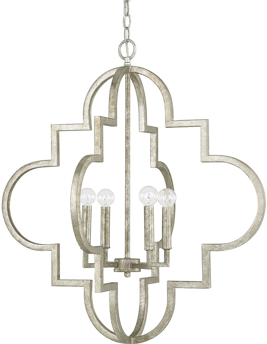 Ellis 4-Light Pendant Antique Silver