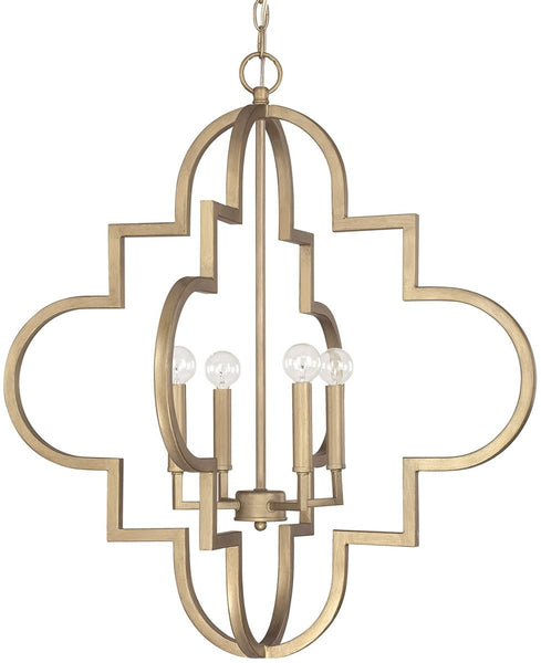 Capital Lighting Ellis 4-Light Pendant Brushed Gold 4542BG