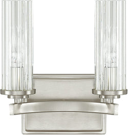 "9""w Emery 2-Light Vanity Brushed Nickel"