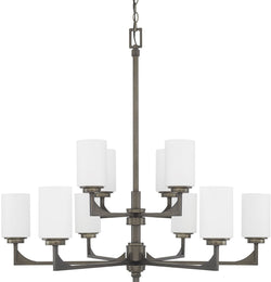 Capital Lighting Flynn 10-Light Chandelier Gunmetal 411001GM316