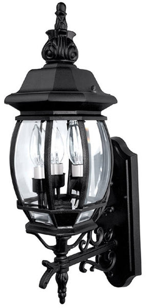 Capital Lighting French Country 3-Light Outdoor Fixture Black 9863BK