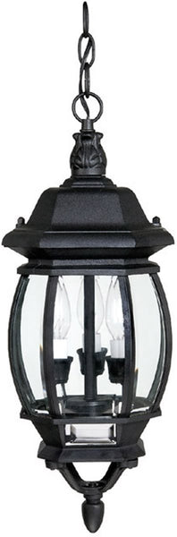 Capital Lighting French County 3 Lamp Hanging Outdoor Lantern Black 9864BK