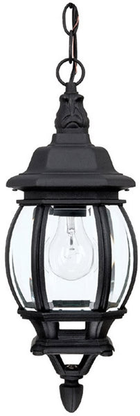 Capital Lighting French County 1-Light Hanging Outdoor Lantern Black 9868BK