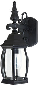 Capital Lighting French County 1-Light Wall Mount Outdoor Lantern Black 9866BK