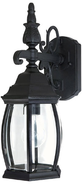 French County 1-Light Wall Mount Outdoor Lantern Black