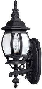 Capital Lighting French County 1-Light Wall Mount Outdoor Lantern Black 9867BK