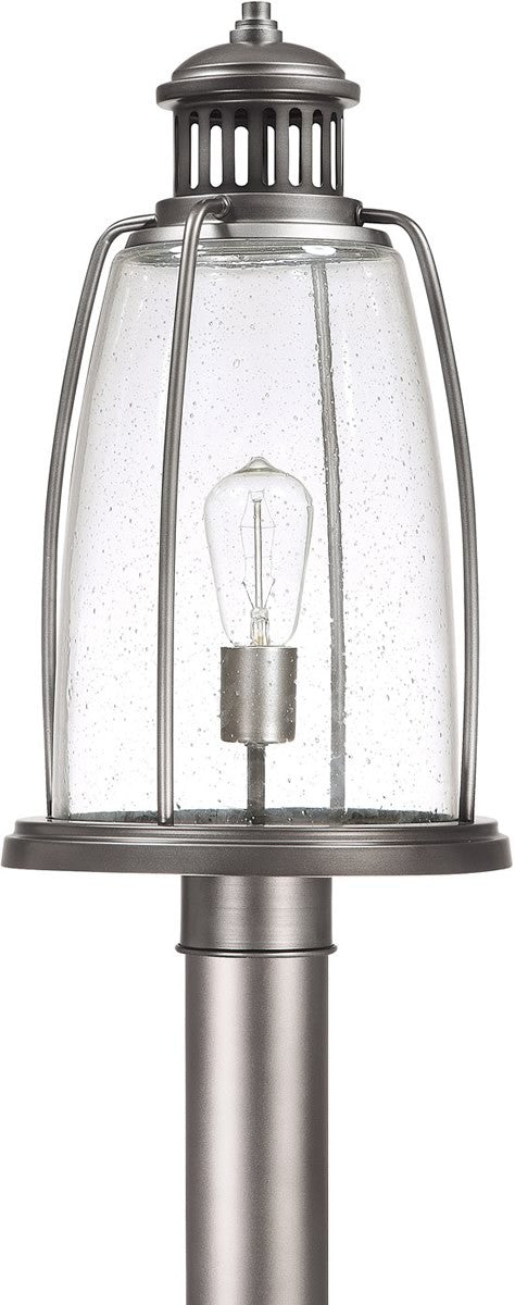 "20""h Harbour 1-Light Outdoor Post Lantern Graphite"