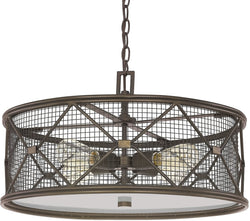 Capital Lighting Jackson 4-Light Pendant Oil Rubbed Bronze 4894OR