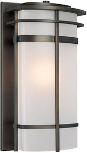 "19""h Lakeshore 1-Light Outdoor Old Bronze"