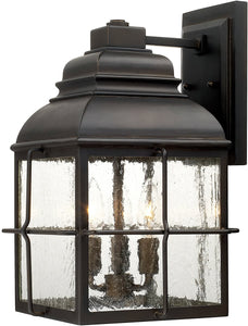Capital Lighting Lanier 3-Light Wall Lantern Old Bronze 917831OB