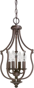 Capital Lighting Leigh 4-Light Foyer Burnished Bronze 4704BB