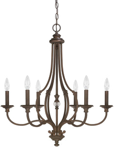 Leigh 6-Light Chandelier Burnished Bronze