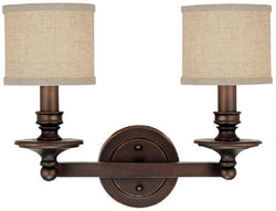 Capital Lighting Loft 2-Light Vanity Burnished Bronze 1237BB450