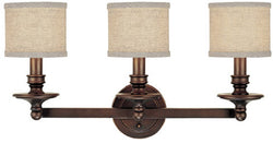 Capital Lighting Loft 3-Light Vanity Burnished Bronze 1238BB450