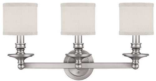 Capital Lighting Loft 3-Light Vanity Matte Nickel 1238MN451
