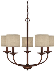 Capital Lighting Loft 5-Light Chandelier Burnished Bronze 3925BB468