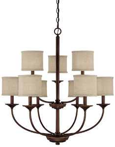 Capital Lighting Loft 9-Light Chandelier Burnished Bronze 3929BB468