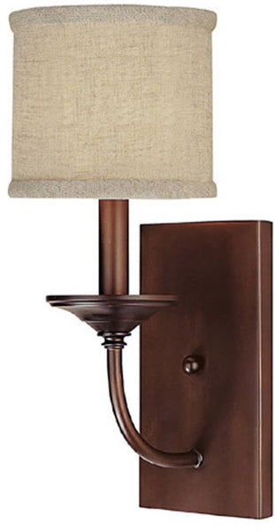 Capital Lighting Loft 1-Light Sconce Burnished Bronze 1981BB468