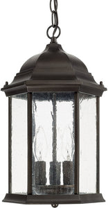 Capital Lighting Main Street 3-Light Hanging Lantern Old Bronze 9836OB