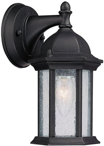 Capital Lighting Main Street 1-Light Wall Lantern Black 9831BK