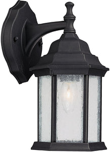Main Street 1-Light Wall Lantern Black