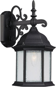 Capital Lighting Main Street 1-Light Wall Lantern Black 9833BK