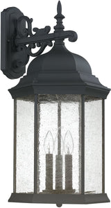 Capital Lighting Main Street 3-Light Wall Lantern Black 9838BK