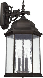 Capital Lighting Main Street 3-Light Wall Lantern Old Bronze 9838OB