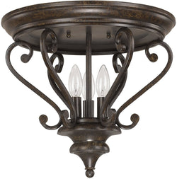 Capital Lighting Maxwell 3-Light Ceiling  Chesterfield Brown 4533CB