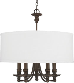 Capital Lighting Midtown 5-Light Chandelier Burnished Bronze 3915BB455