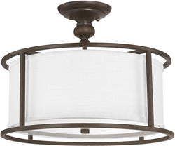 Capital Lighting Midtown 3-Light Semi Flush Burnished Bronze 3914BB459