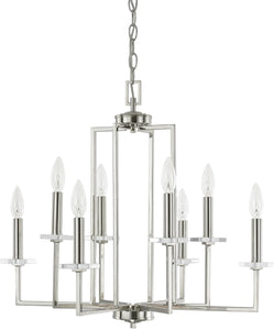 Capital Lighting Morgan 8-Light Chandelier Polished Nickel 4817PN
