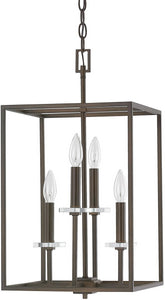 Capital Lighting Morgan 4-Light Foyer Fixture Burnished Bronze 7001BB