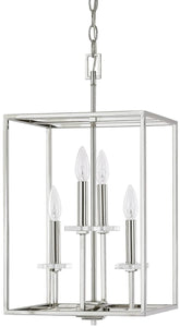 Capital Lighting Morgan 4-Light Foyer Fixture Polished Nickel 7001PN