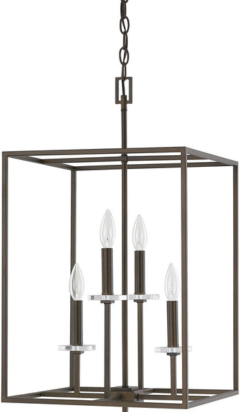 Capital Lighting Morgan 4-Light Foyer Fixture Burnished Bronze 7002BB