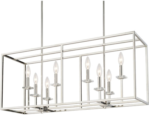 Capital Lighting Morgan 8-Light Island Polished Nickel 7004PN