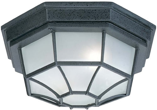 Capital Lighting 2 Lamp Outdoor Ceiling Light Black 9800BK