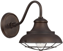 Capital Lighting Outdoor 1-Light Barn Style Outdoor Shade Burnished Bronze 4561BB