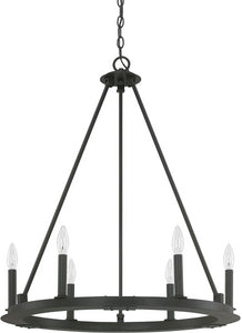 Capital Lighting Pearson 6-Light Chandelier Black Iron 4916BI000