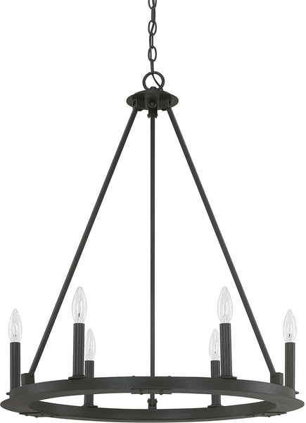 Pearson 6-Light Chandelier Black Iron