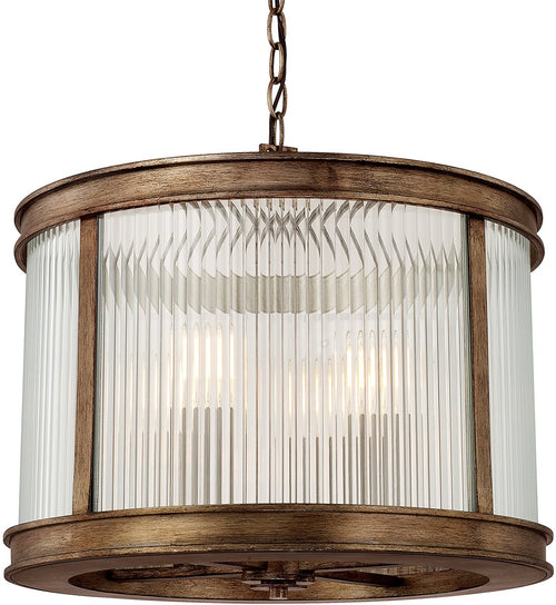 Capital Lighting Reid 4-Light Pendant Rustic 312042RT