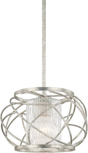 Capital Lighting Riviera 1-Light Pendant Antique Silver 310611AS301