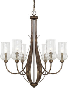 Capital Lighting Rowan 6-Light Chandelier Rustic 411661RT322