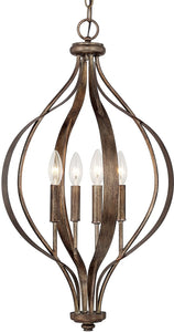 Capital Lighting Rowan 4-Light Foyer Rustic 511641RT