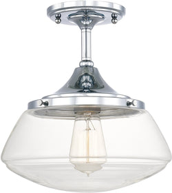 Capital Lighting Schoolhouse 1-Light Ceiling Chrome 3533CH134