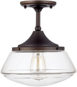 Capital Lighting Semi-flush 1-Light Semi-Flush Burnished Bronze 3533BB134