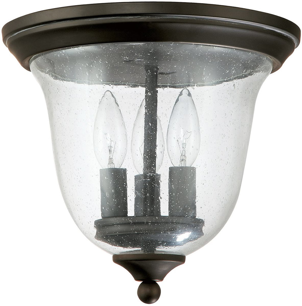 "11""W Signature 3-Light Outdoor Flush Mount Old Bronze"