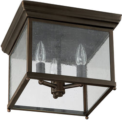 Capital Lighting Signature 3-Light Outdoor Flush Mount Old Bronze 9546OB