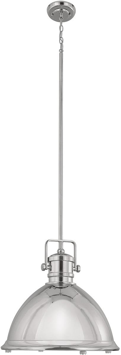 "19""w Signature 1-Light Pendant Polished Nickel"